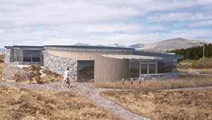 3D CGI Architeural Visualisation connemara OPW visitor centre