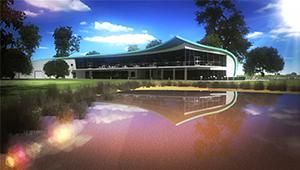 3D CGI Casino golf course club house resort fly-through 01
