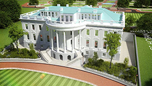 3D CGI Casino resort fly-through White house