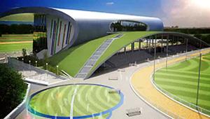 3D CGI Casino resort fly-through grandstand grade-01 greyhound track 01