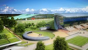 3D CGI Casino resort fly-through grandstand grade-01 horse racing yard greyhound track