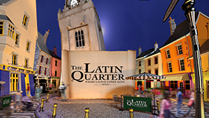 3D CGI Galway Latin Quarter poster retail culture