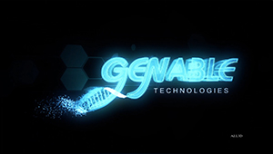 3D CGI Genable Animated logo dna chromosome sequence gene therapy