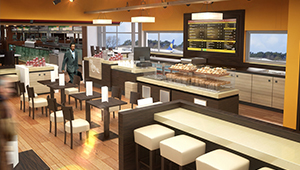 3D CGI Insomnia fit out retail coffee dublin ariport terminal 1