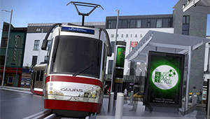 3D CGI Light Rail train public transport Gluas 01