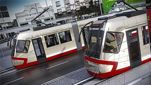 3D CGI Light Rail train public transport Gluas 02