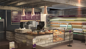 3D CGI Retail Fit-out servery food bakery concession 01