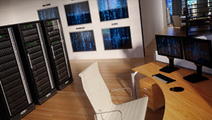 3D CGI animation office date servers back end 01