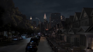 3D CGI set painting photomontage New York Street blue green screen compositing 04