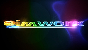 3D CGI simworx 4d cinema interactive stereo logo post production workflow
