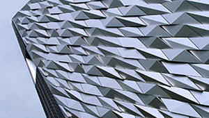 Video commercial photogrpahy fractal facade architecture Titanic belfast northern ireland