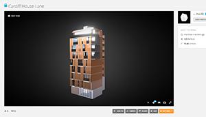 Web mobile Architectural Visualisation Apartmets bronse tower web plugin sketchfab WebGL 02
