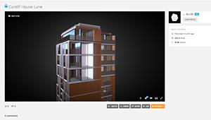 Web mobile Architectural Visualisation Apartmets bronse tower web plugin sketchfab WebGL