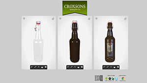 Web mobile Croxsons web site bottles glass comparison web plugin sketchfab WebGL