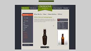 Web mobile Croxsons web site bottles interactive web plugin sketchfab WebGL