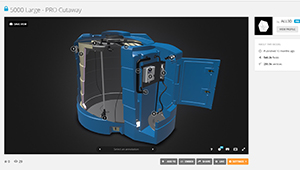 Web mobile Kingspan Fuel tank bluemaster section interactive web plugin sketchfab WebGL 02