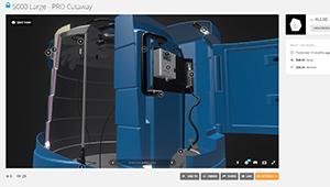 Web mobile Kingspan Fuel tank bluemaster section interactive web plugin sketchfab WebGL