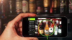 Web mobile app designar augmented reality applicaiton glass bottle fmcg design Jack Ryan Whiskey