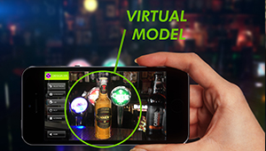Web mobile app designar augmented reality applicaiton glass bottle fmcg design heineken