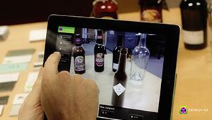 Web mobile app designar augmented reality applicaiton glass bottle fmcg design iPad Apple