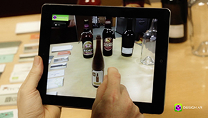 Web mobile app designar augmented reality label fmcg design iPad Apple