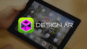 Web mobile augmented reality app designar logo iPad Apple